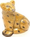 Raku South Africa L12 Leopard Sitting Yellow