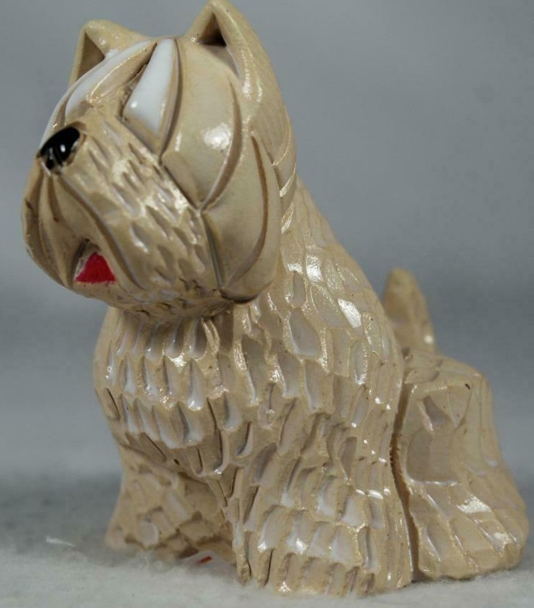 Artesania Rinconada 112 White Terrier Dog