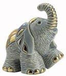 Artesania Rinconada 1704L Elephant Baby RARE White on White