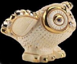 De Rosa Collections 1707L Owl Baby RARE White on White