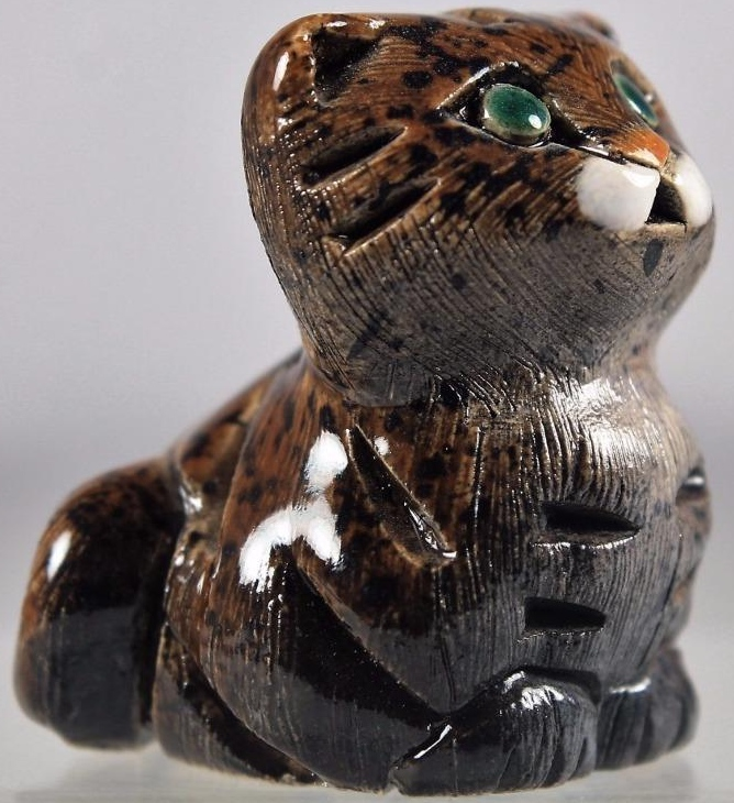 Artesania Rinconada 172A Cat Tabby Kitten  Made in Uruguay $18.99