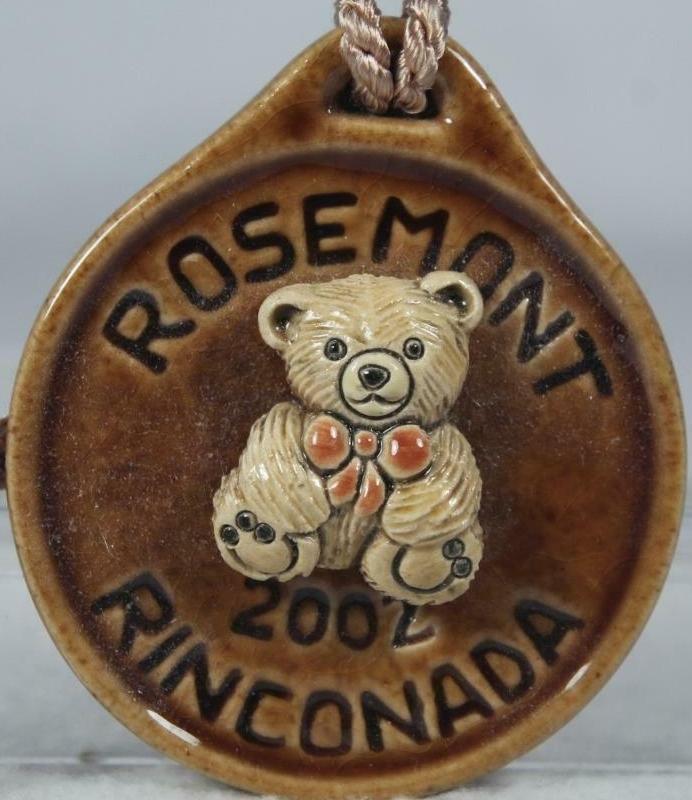 Artesania Rinconada 2002RosemontBearBrown Bear RARE Event Medallion 2002 Rosemont Brown