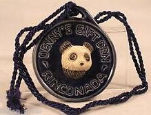 De Rosa Collections 2005DennysPandaBlue Panda Bear RARE Event Medallion 2005 Dennys Blue