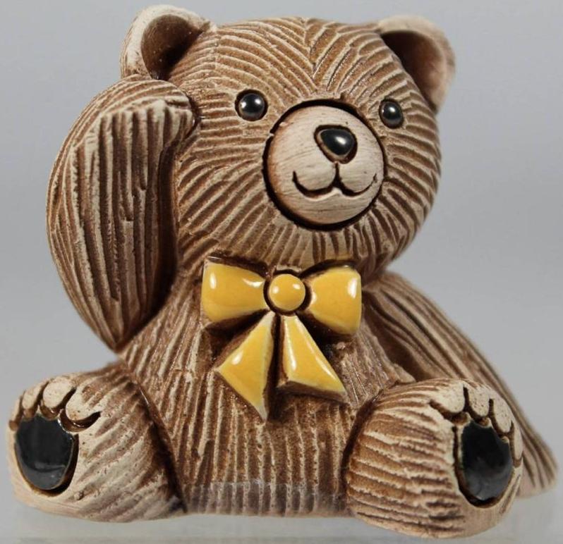 De Rosa Collections 328A Teddy Bear Baby Green Tie