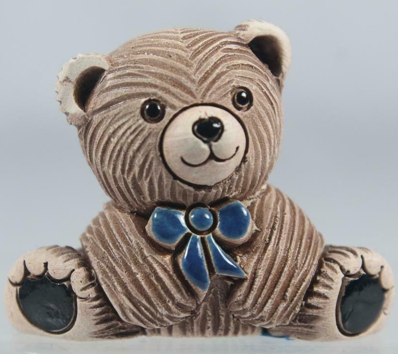 De Rosa Collections 328C Teddy Bear Baby with Blue Tie