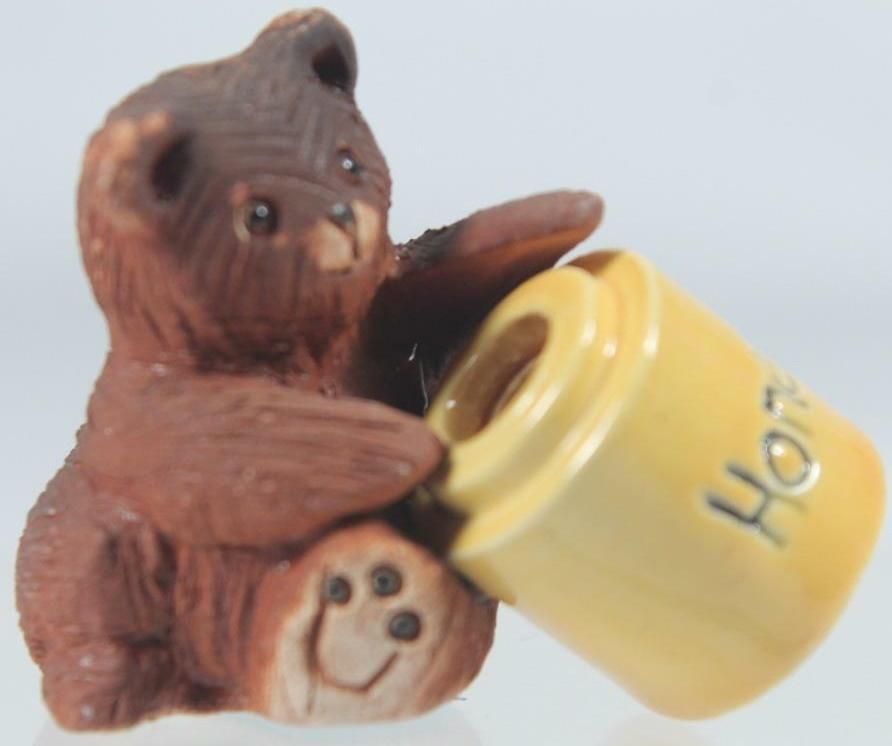 Artesania Rinconada 331A Bear Baby With Honey Pot Lid 1999