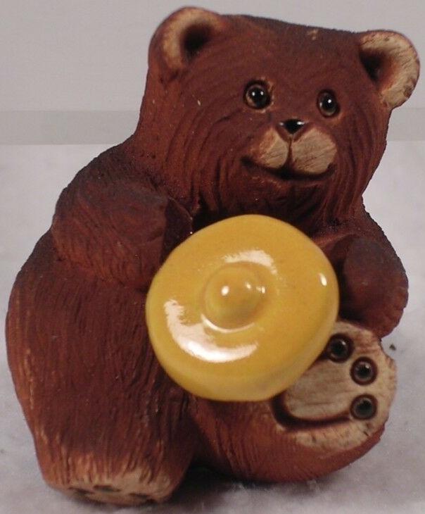 Artesania Rinconada 331B Bear Baby With Honey Pot Lid 1999