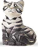 Artesania Rinconada 412 Grey and Black Tabby Cat