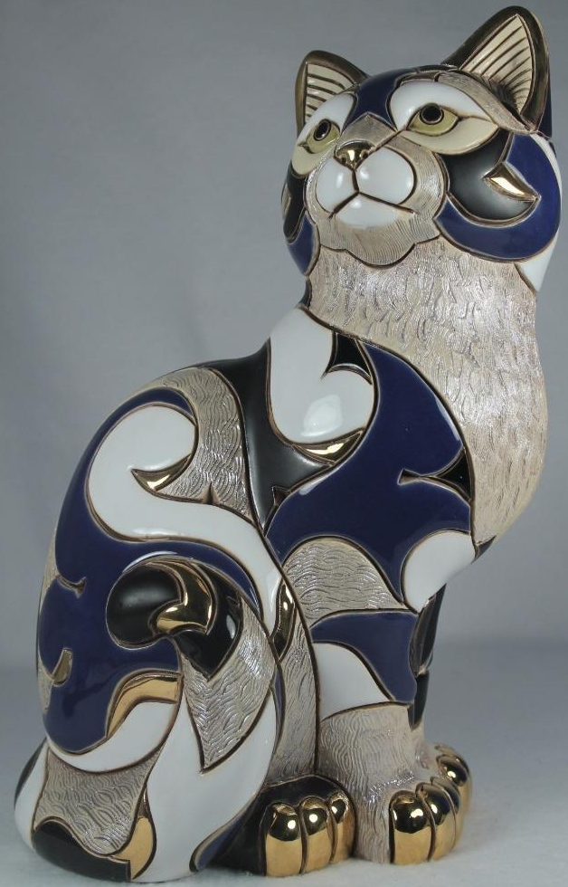 Artesania Rinconada 445B Cat Calico Blue Gallery Collection