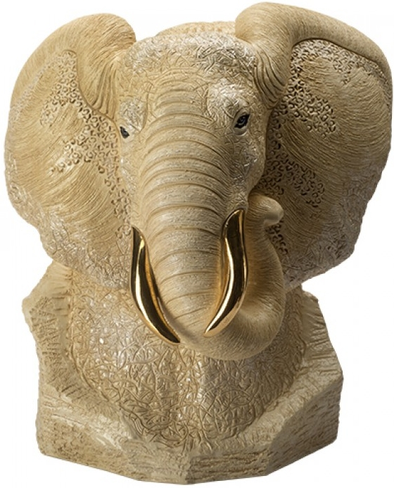 De Rosa Collections 464W Elephant White Bust Ltd 400