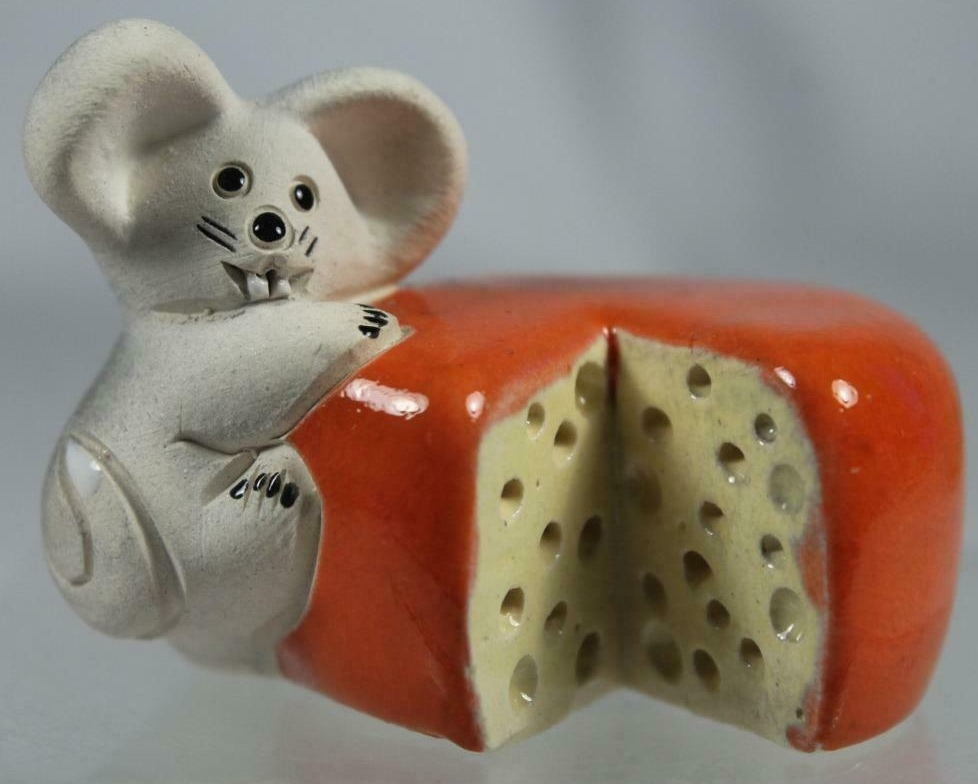 De Rosa Collections 73H Mouse Climbing Cheese Wheel