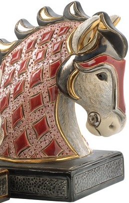 Artesania Rinconada BE01R Horse Ruby Red Bookend
