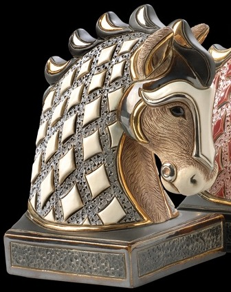 De Rosa Collections BE01W Horse White Bookend