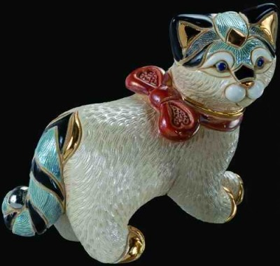 De Rosa Collections F116 Cat with Ribbon