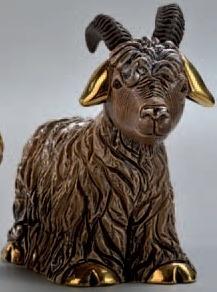 Artesania Rinconada F173B Goat Brown Chinese Zodiac 2015