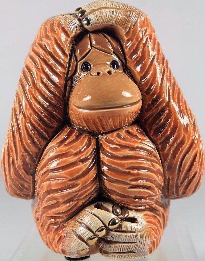 De Rosa Collections F203E Orangutan Hear No Evil
