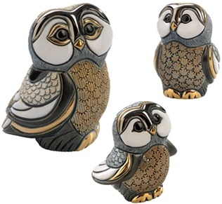 De Rosa Collections F328A Blue Tawney Owl Baby