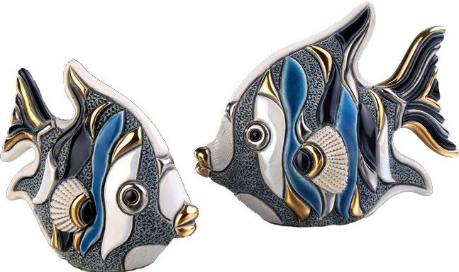 Artesania Rinconada F353 Angel Fish Baby Blue