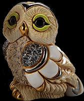 De Rosa Collections F385B Winter Owl Baby II