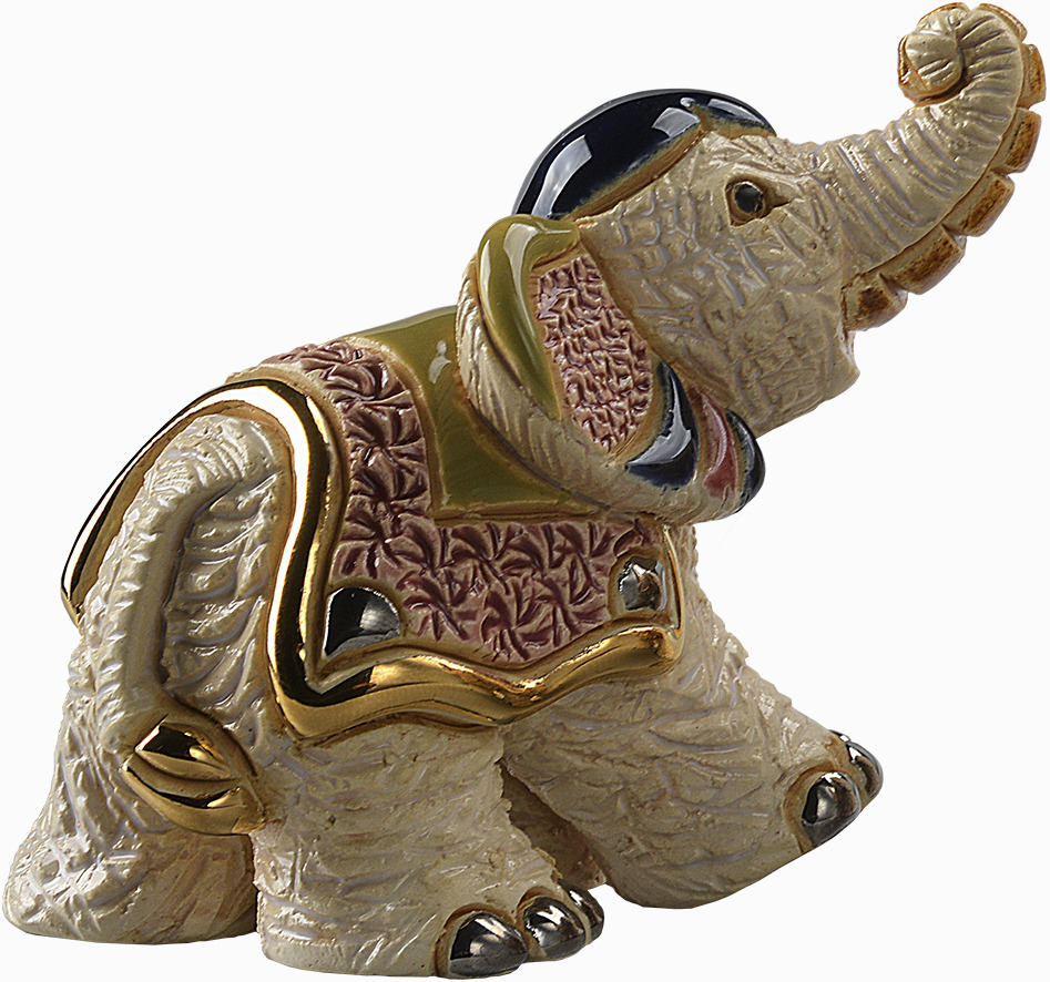 De Rosa Collections F387B White Indian Elephant Baby