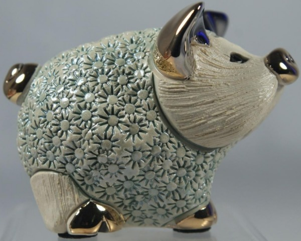 De Rosa Collections F414AG Pig Piglet Standing Green