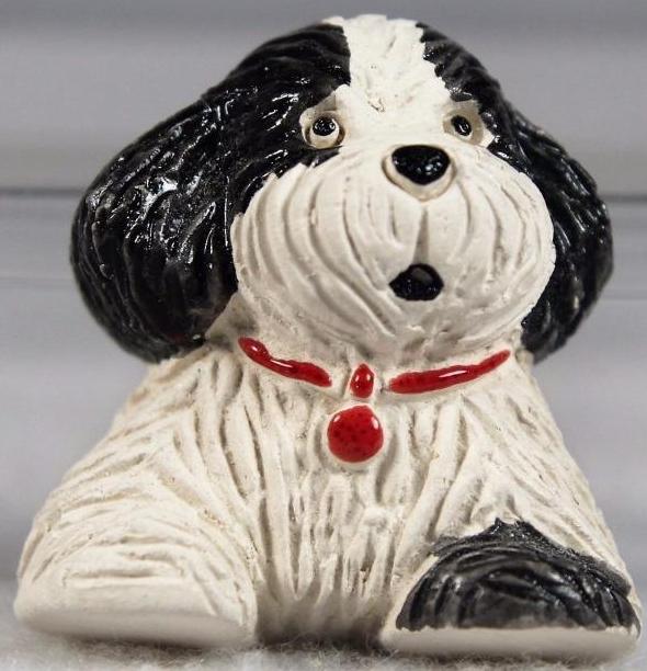 Artesania Rinconada M51A Puppy Dog Baby Red Collar Magnet