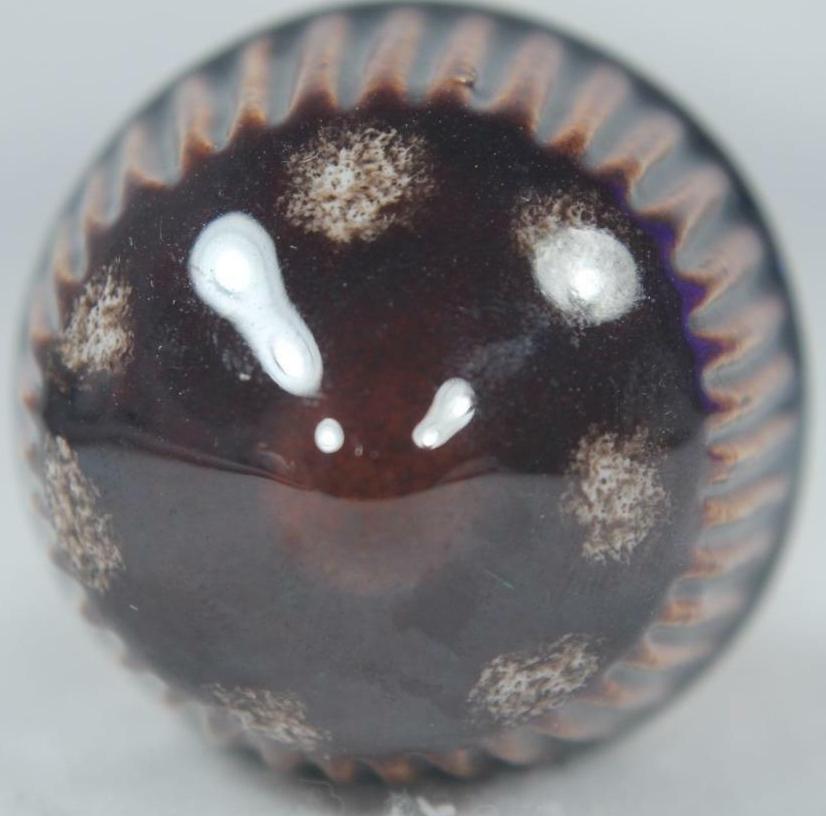 Artesania Rinconada PlantStake6 Plant Stake - Dark Brown With White Dots