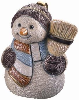 De Rosa Collections S02 Snowman & Broom Snowman Collection