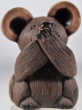 Artesania Rinconada 136C Mouse Wise Speak No Evil Non US