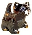 De Rosa Collections 1714 Cat Black Kitten With Paw Up