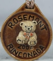 De Rosa Collections 2002RosemontBearBrown Bear RARE Event Medallion 2002 Rosemont Brown
