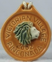 De Rosa Collections 2002VictorianVillageLionGold Lion RARE Even Medallion 2002 Victorian Village Gold