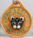 De Rosa Collections 2003DennysCatYellow Cat RARE Event Medallion 2003 Dennys Yellow