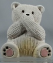 Artesania Rinconada 330B Polar Bear RARE Non U S Speak No Evil Bear