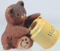 Artesania Rinconada 331A Bear Baby With Honey Pot Lid 1999