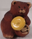 Artesania Rinconada 331B Bear Baby With Honey Pot Lid 1999