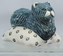 De Rosa Collections 335 Blue Persian Kitten On Pillow