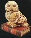 De Rosa Collections 449 Owl On Book
