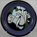 De Rosa Collections 509-2 Monkey Blue Large Plate RARE