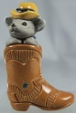 De Rosa Collections 73E Mouse In Cowboy Boot