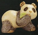 Artesania Rinconada F303 Panda Baby with Leaf Family Collection