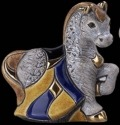 De Rosa Collections F365G Horse Baby Grey Chinese Zodiac 2014