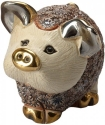 Artesania Rinconada F414AP Pig Piglet Standing Pink Family Collection