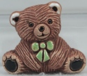 De Rosa Collections MG04B Teddy Bear Baby Magnet Green Tie