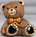 Artesania Rinconada MG04C Teddy Bear Baby Orange Tie Magnet