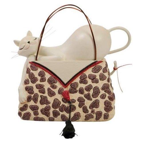 Special Sale 20908 Marilyn Robertson 20908 Cat on Leopard Purse