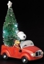 Peanuts by Roman 130519 Snoopy and Tree in Red Car Figurine LED