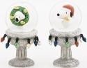 Peanuts by Roman 131649 Snoopy Set of 2 Glitter Domes on Pedestal