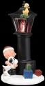 Peanuts by Roman 132562 Charlie and Snoopy Lamppost Light