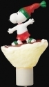 Peanuts by Roman 133788 Snoopy Snowboard Nightlight